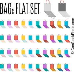 Bags flat set.