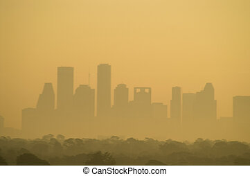 Houston skyline - Skyline of downtown Houston, Texas, USA