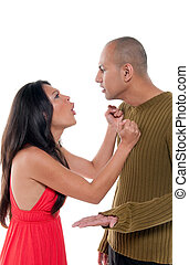 Couple arguing - Young couple having an argument and...