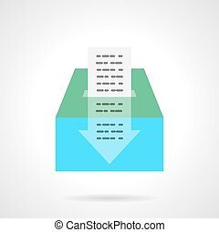 Fundraiser abstract flat color vector icon - Putting money...