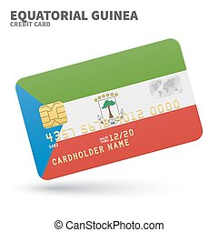 Credit card with Equatorial Guinea flag background for bank,...
