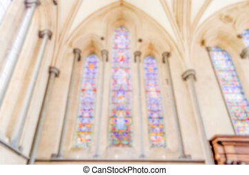 Defocused background of a Stained-glass windows....