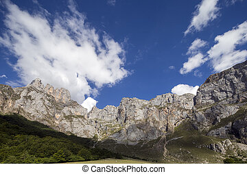 mountains in the picos de europa, spain - view of the...
