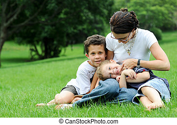 Single parent - Single mother with her sons