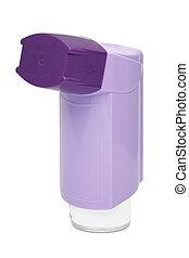 púrpura, asma, inhalador