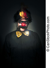 Dark Foreboding Clown - Portrait Of A Deranged Dark And...