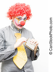 Work Blues - A Clown Is Caught With A Guiltily Expression...