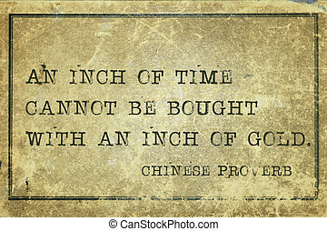 time and gold CP - An inch of time cannot be bought -...
