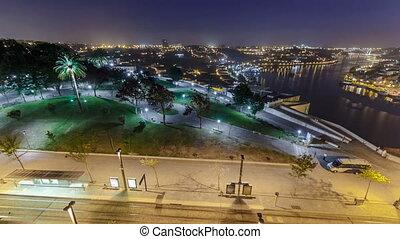 Jardim do Morro in Vila Nova de Gaia and Porto cityscape...