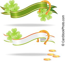 saint patricks banners isolated on white background. vector...
