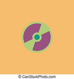 Vector CD or DVD icon - CD or DVD Colorful vector icon...