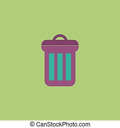 urn flat icon - Urn. Colorful vector icon. Simple retro...