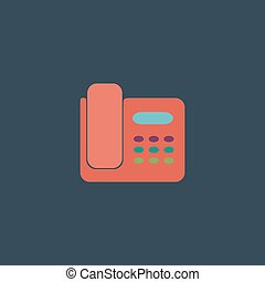Vector fax machine illustration - Fax machine. Colorful...