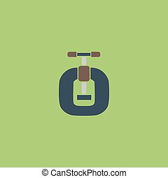 Bench vices flat icon - Bench vices. Colorful vector icon....