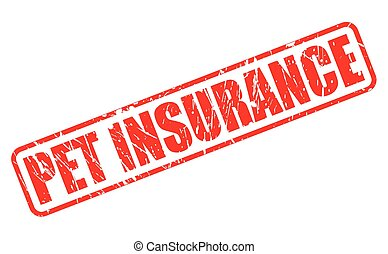 PET INSURANCE red stamp text