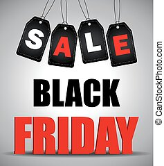 Black friday sale - vector illustration Black friday sale