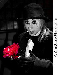 Love Is A Magic Trick - A Magician Pulls A Red Flower Out Of...