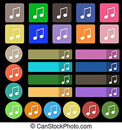 musical note, music, ringtone icon sign. Set from twenty...