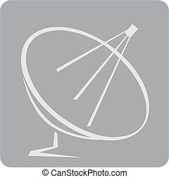 Antenna	 - Illustration of dish antenna in grey board