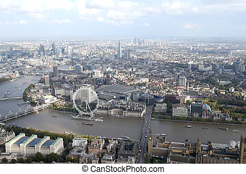 london city skyline view from above - a view of london city...