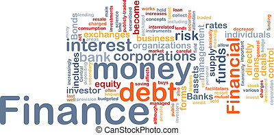 Finance word cloud - Word cloud concept illustration of...