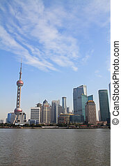 cityscape of Shanghai - Oriental pearl tower and cityscape...