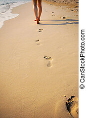 footprint at beach