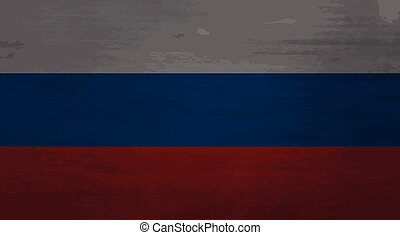 Grunge messy flag Russia