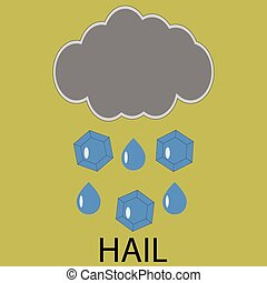 Icon weather hail. Cloud storm, forecast meteorology,...