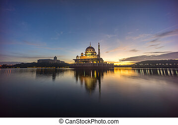 Sunrise At Putra Mosque, Putrajaya Malaysia - Beautiful...