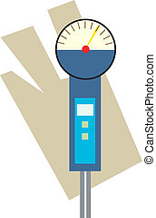 Pressure gauge - Illustration of pressure gauge meter in a...