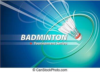 Vector Badminton tournament logo