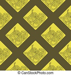 Seamless pattern with Celtic art and ethnic ornaments for...