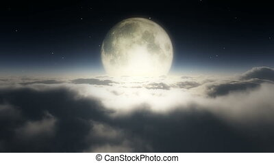 dreams full moon clouds