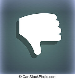 Dislike, Thumb down, Hand finger down icon symbol on the...