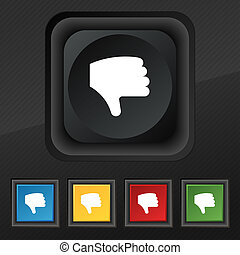 Dislike, Thumb down, Hand finger down icon symbol Set of...