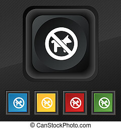 dog walking is prohibited icon symbol Set of five colorful,...