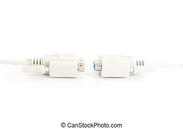 VGA input cable connector with white cord - VGA input cable...