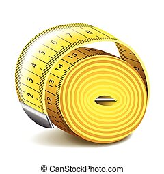 Measuring tape isolated on white vector - Measuring tape...