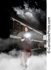 Woman After Midnight - Young Woman In A Night Time Setting...