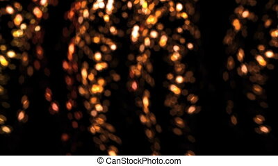 falling bokeh gold flakes flare - bokeh flare effect family...