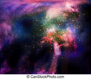 Colorful space nebula