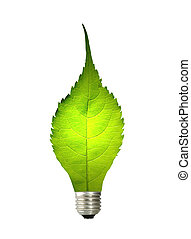 green energy concept on white