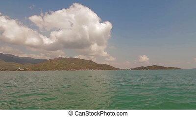 speed boat Vietnam Nha Trang - POV speed boat in Vietnam Nha...