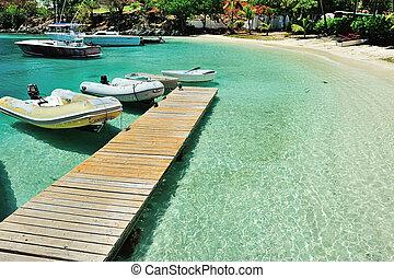 Pier in St joan island - Pier in  beautiful St joan island