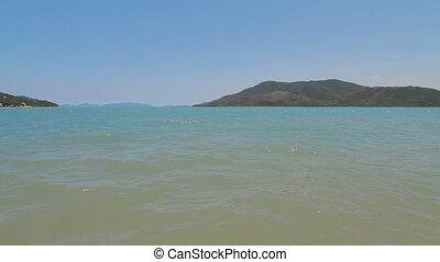 Tropical beach Blue sea in Vietnam