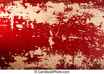 Vintage wood red paint texture background - Vintage wood red...