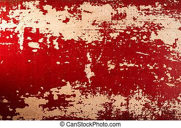 Vintage wood red paint texture background - Vintage wood red...