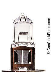Car highlight lamp - Car light bulb isolated on white...