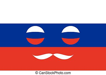 Icon in colors of the Russian flag